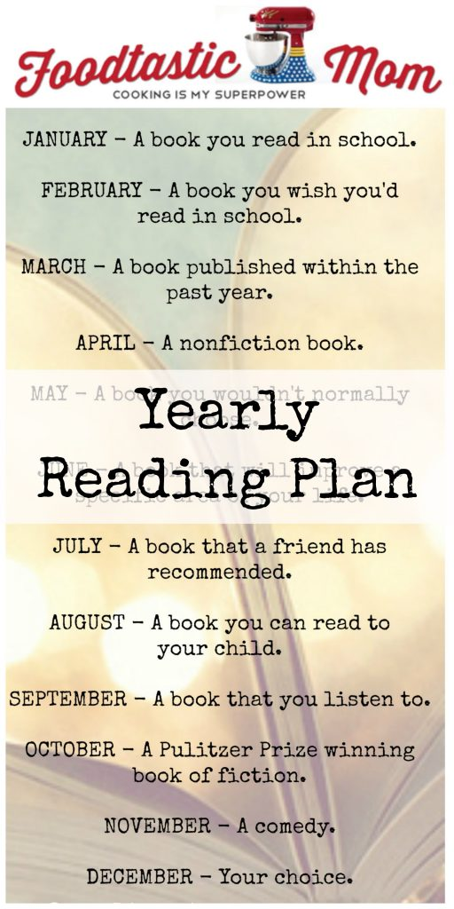 Yearly Reading Plan by Foodtastic Mom