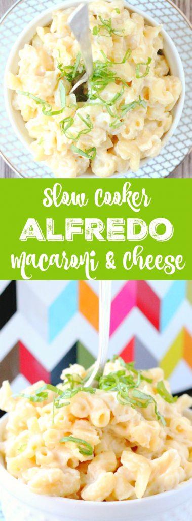 Slow Cooker Alfredo Macaroni and Cheese