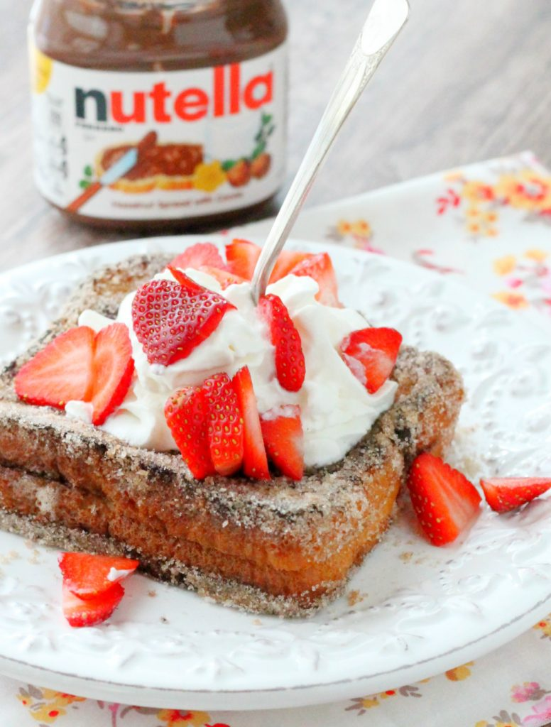 Nutella Stuffed Churro French Toast by Foodtastic Mom