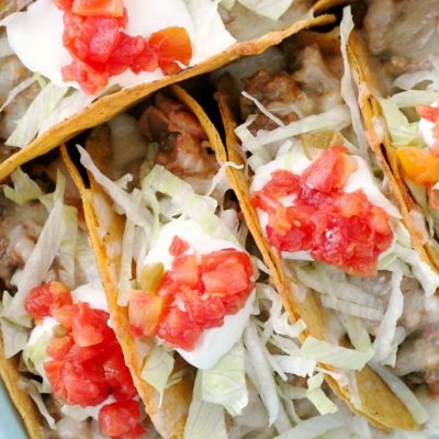 Cheesy Baked Tacos