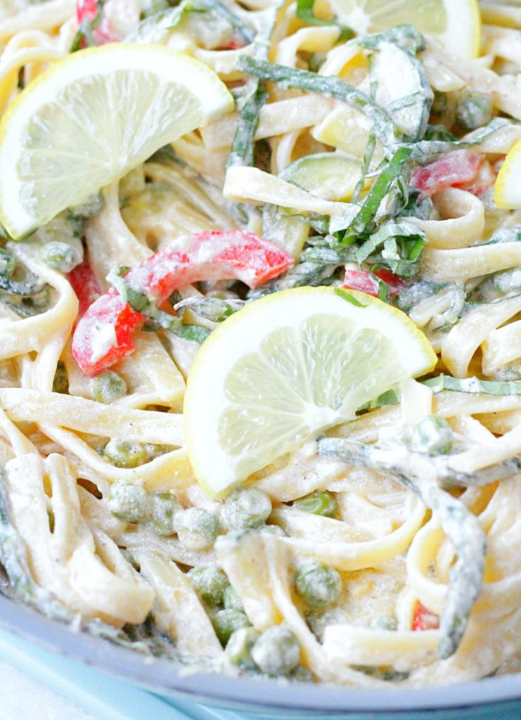 Lemon Cream Pasta Primavera