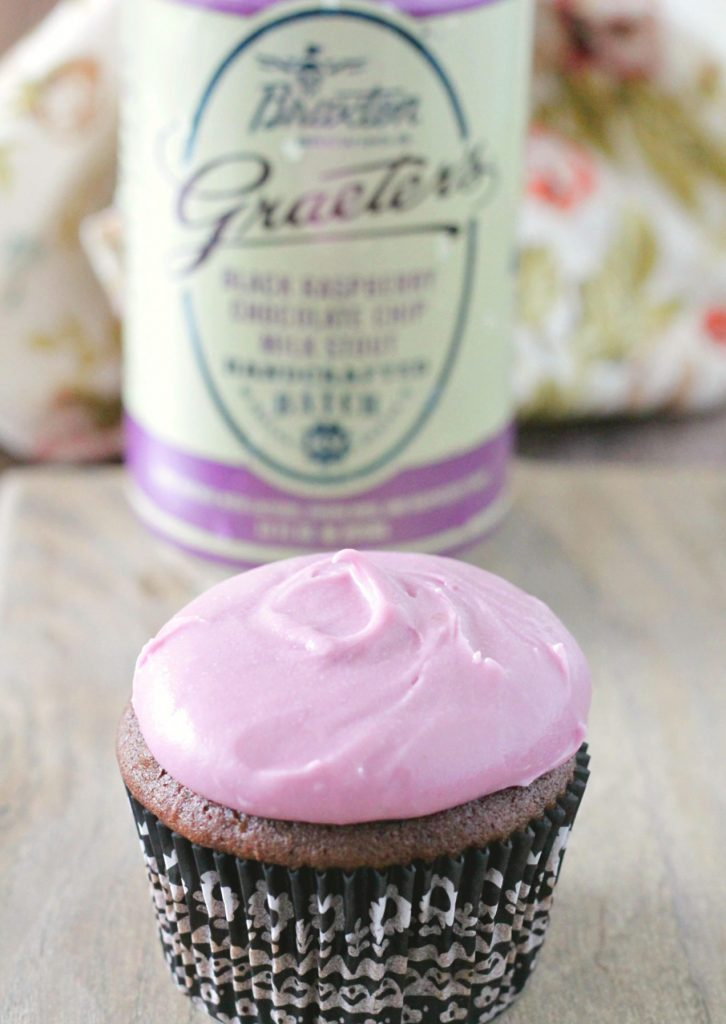 Black Raspberry Chocolate Stout Cupcakes