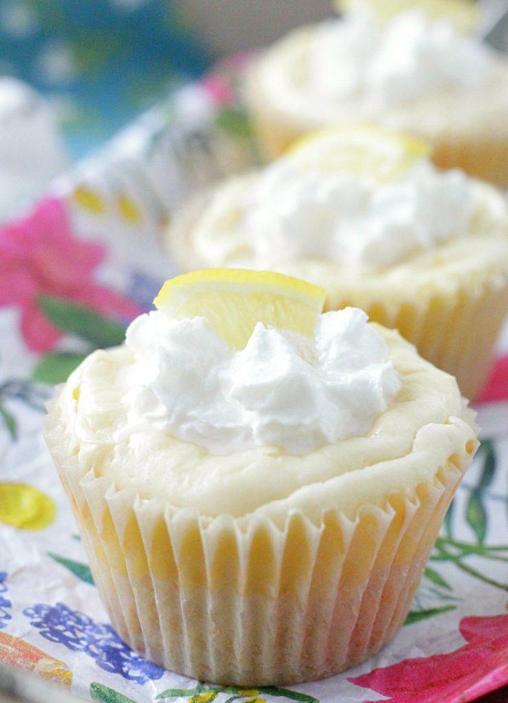 White Chocolate Lemon Cheesecakes