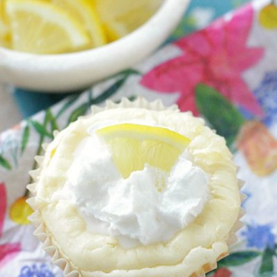 White Chocolate Lemon Cheesecakes