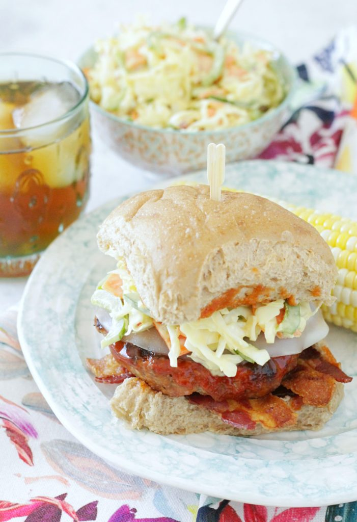 BBQ Pork Burgers - Foodtastic Mom