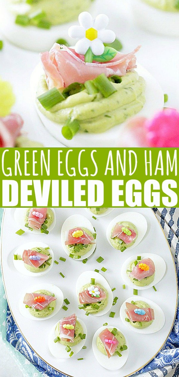 Green Eggs and Ham Deviled Eggs | Foodtastic Mom #deviledeggs #deviledeggsrecipebest