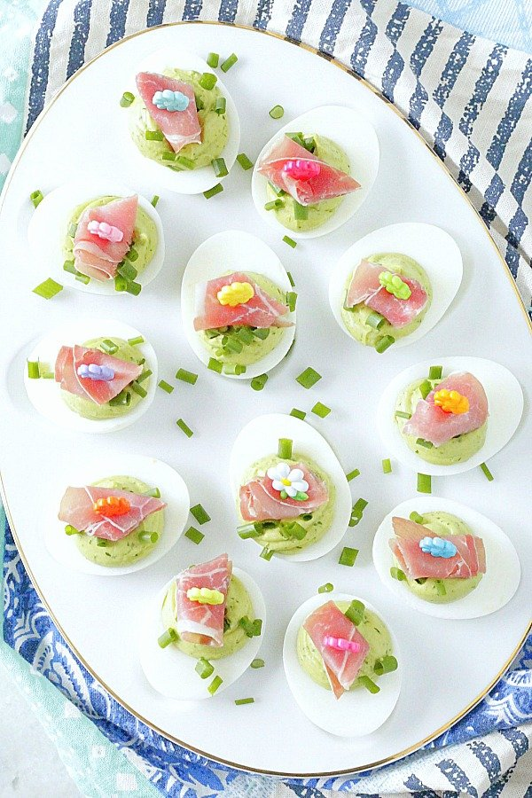 green eggs and ham deviled eggs in egg dish