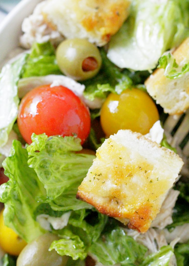 French Bread Pizza Salad