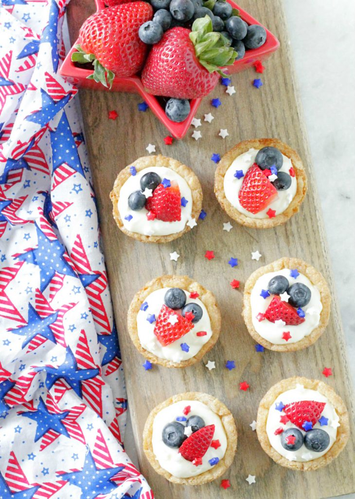 Red White and Blue Cookie Tarts