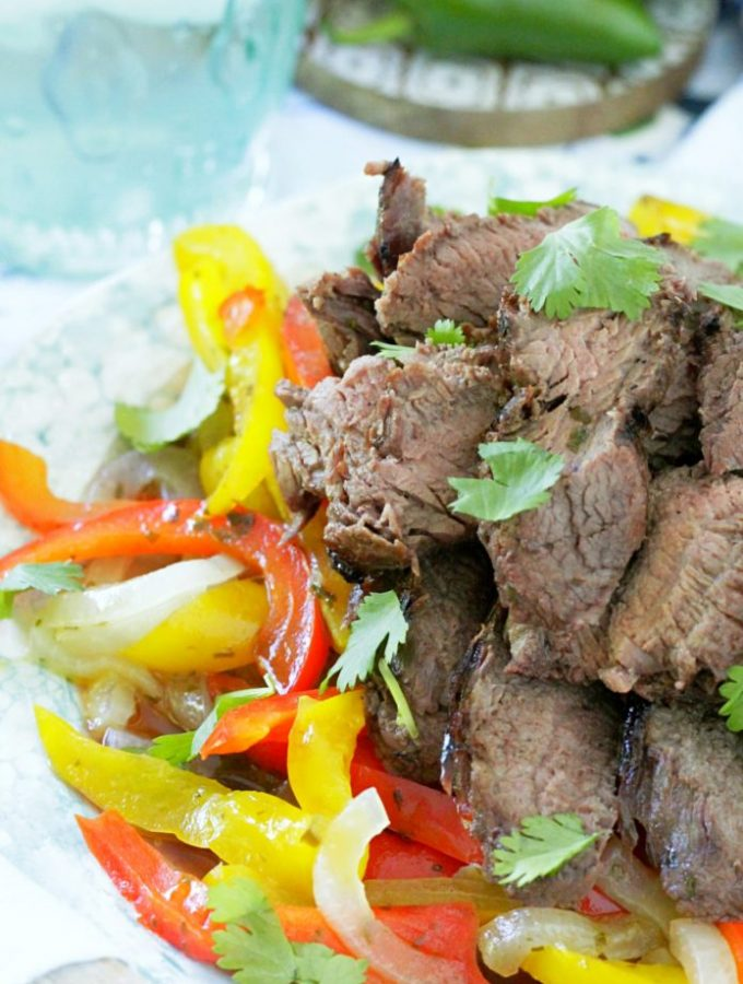 Grilled Margarita Steak Fajitas