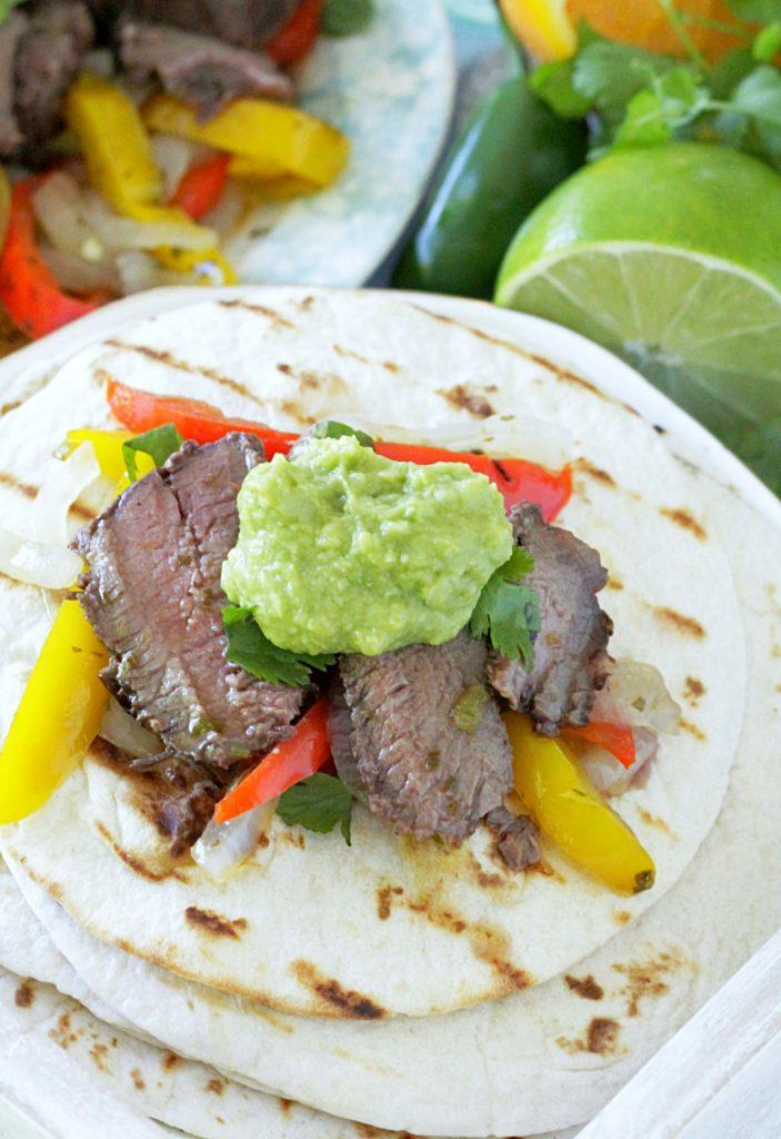 Grilled Margarita Steak Fajitas