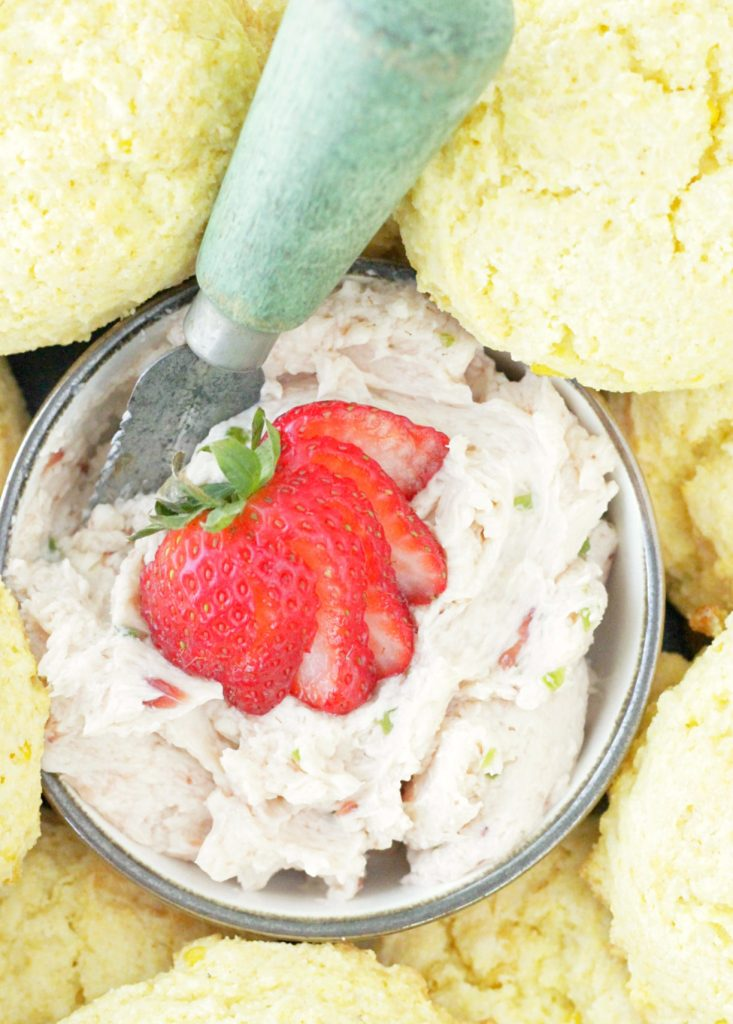 Sweet Corn Scones with Strawberry Jalapeño Butter