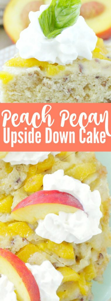 Peach Pecan Upside Down Cake