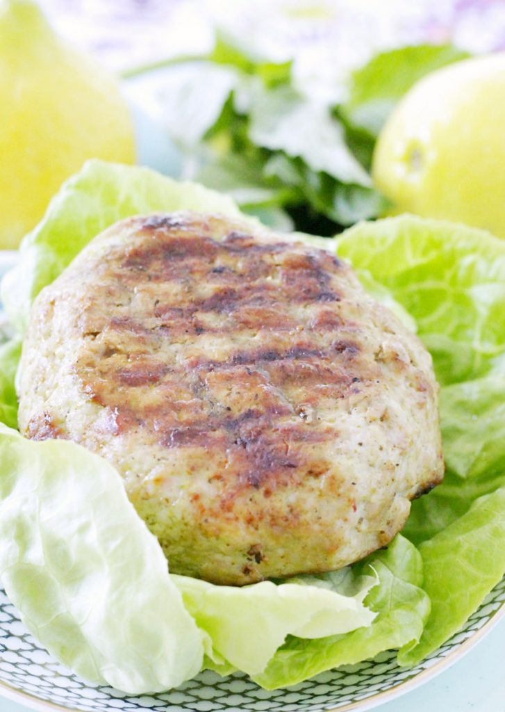 Lemon Pesto Turkey Burgers