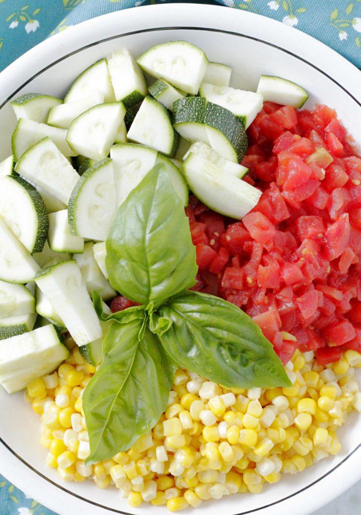 One Pan Summer Vegetable Tortellini