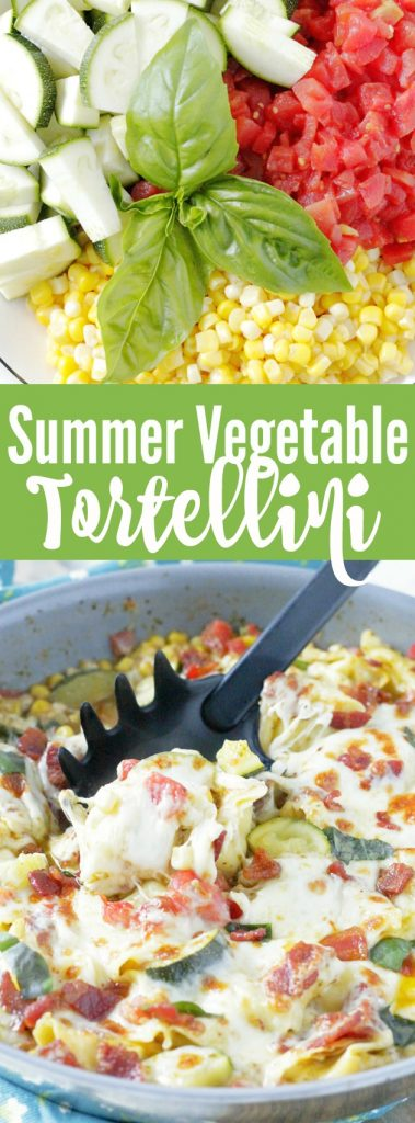 One Pan Summer Vegetable Tortellini