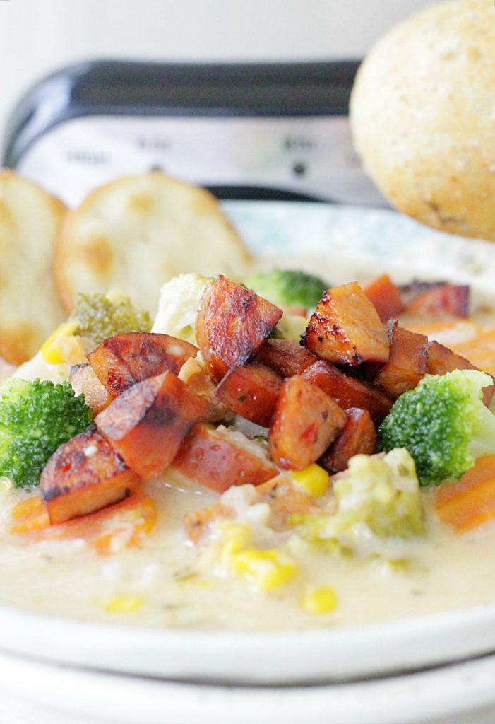 Slow Cooker Sausage Chowder