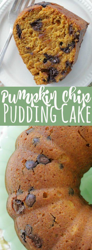 Pumpkin Chocolate Chip Pudding Cake