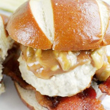 Peanut Butter and Bacon Turkey Burgers