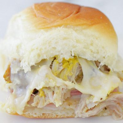 Slow Cooker Pork Cubano Sliders