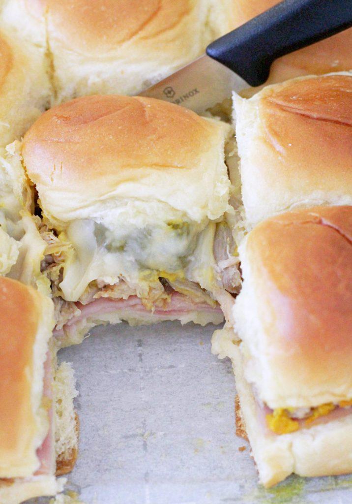 Slow Cooker Pork Cubano Sliders