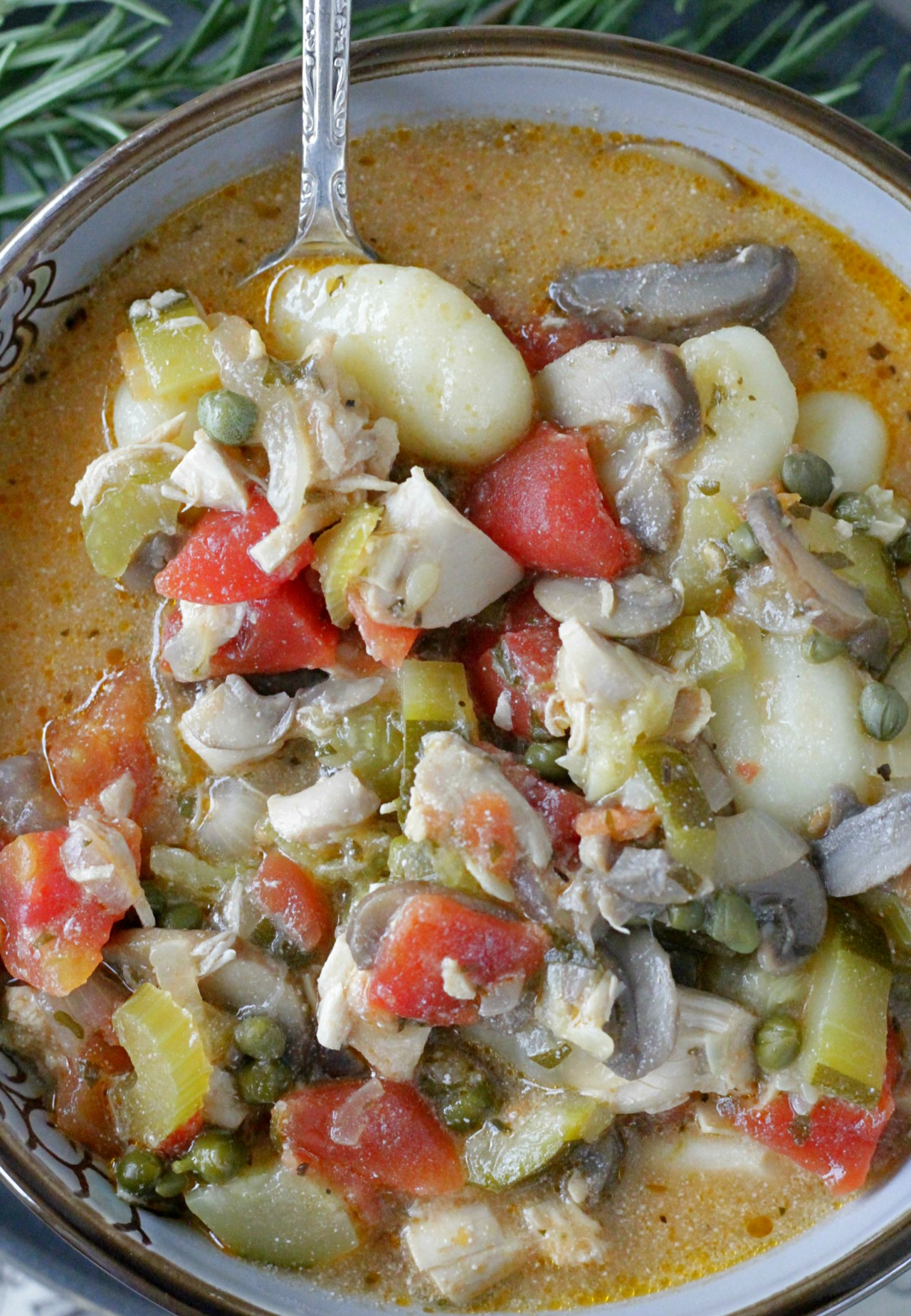 Creamy Chicken Cacciatore Stew