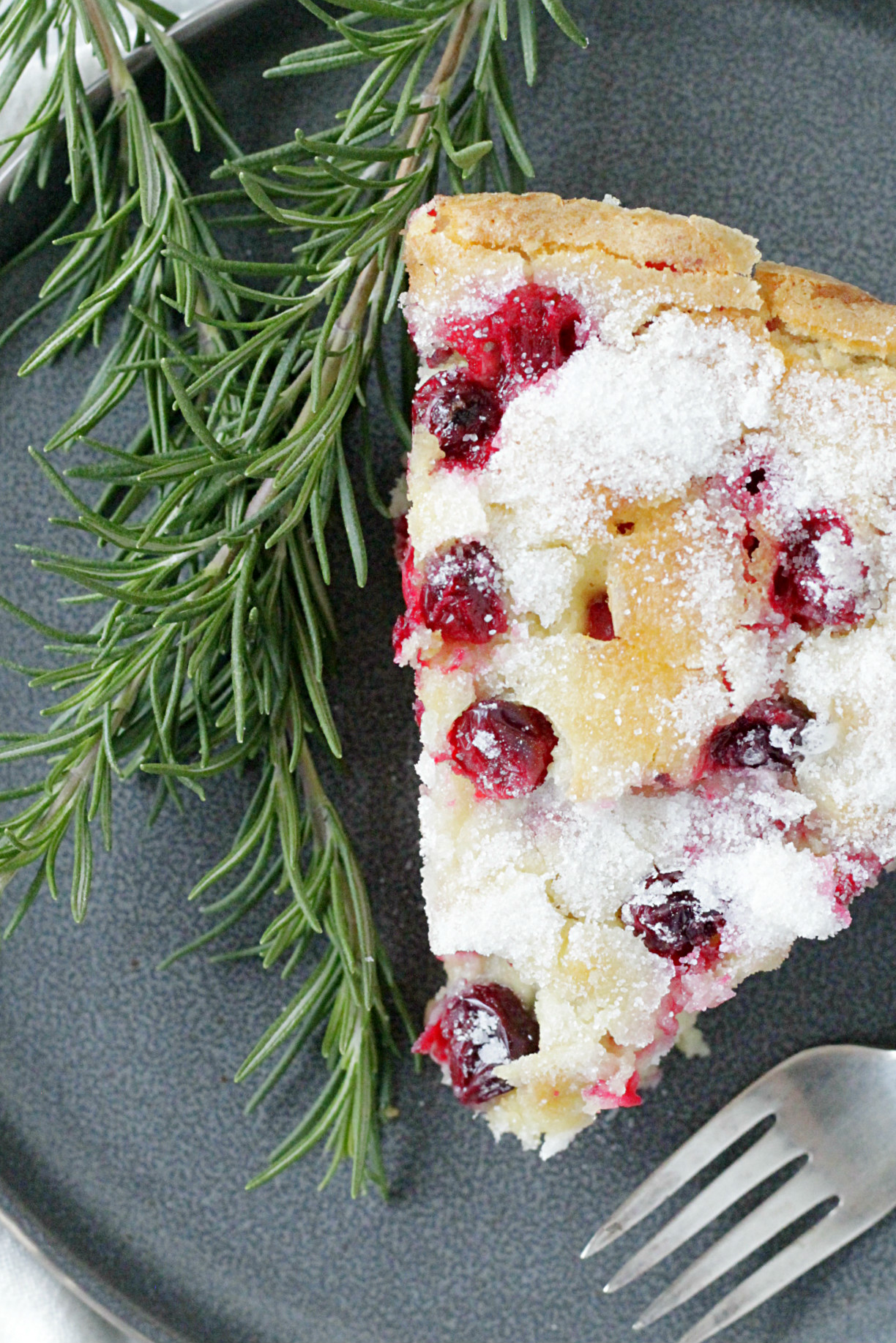 Sugared Cranberry Cake
