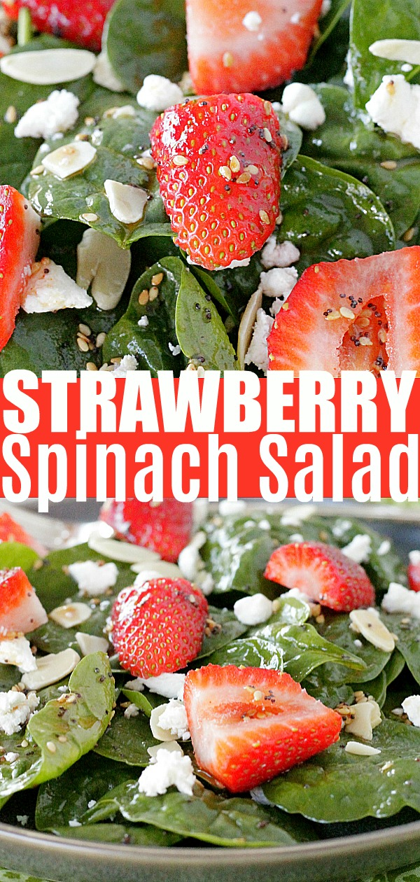 Strawberry Spinach Salad | Foodtastic Mom #strawberryspinachsalad #saladrecipes