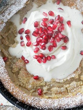 Gingerbread Dutch Baby with Lemon Whipped Cream #ad
