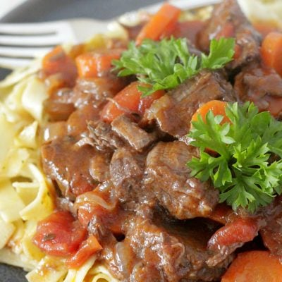 provencal beef stew plate