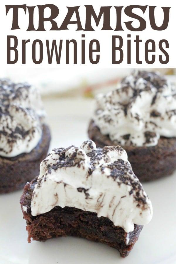 Tiramisu Brownie Bites #ad