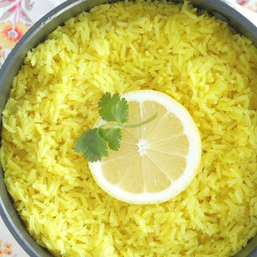 lemon rice top view