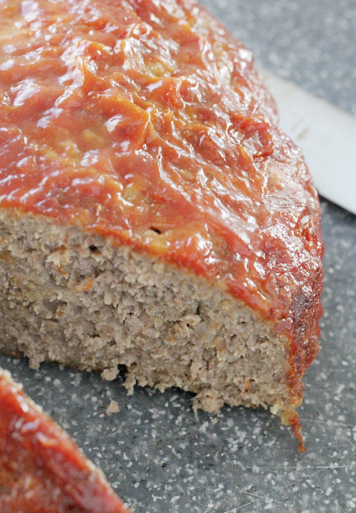 whole meatloaf cut
