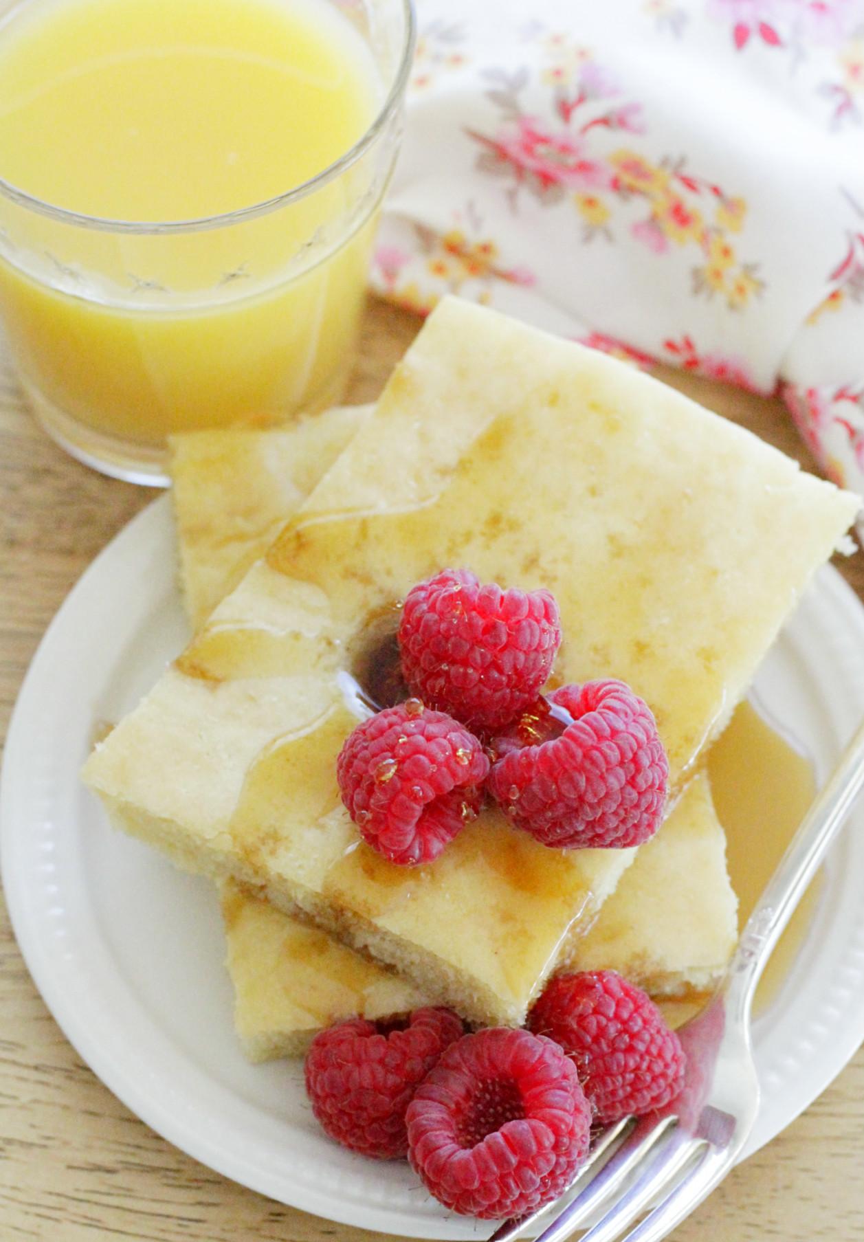 sheet pan pancake breakfast