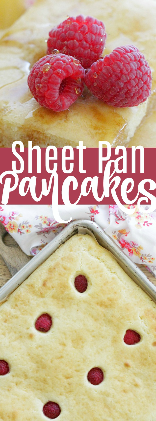 Sheet Pan Pancakes - perfect for meal prep