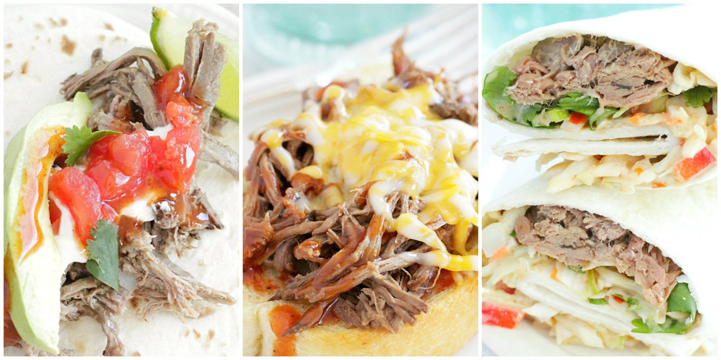 cook once eat all week with shredded beef collage