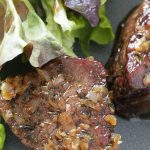 close up of reverse sear filet mignon
