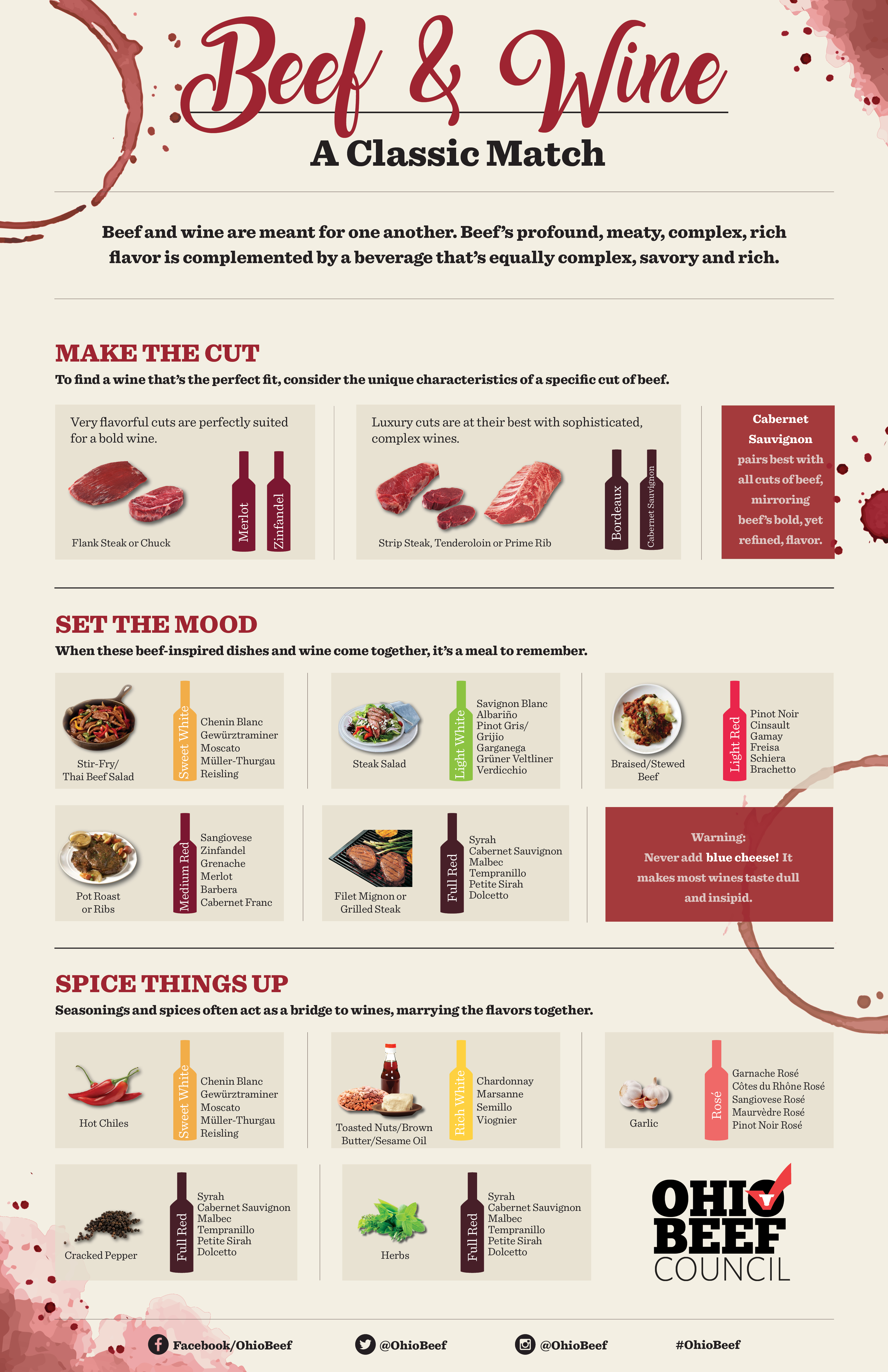 Beef and Wine Pairings Infographic