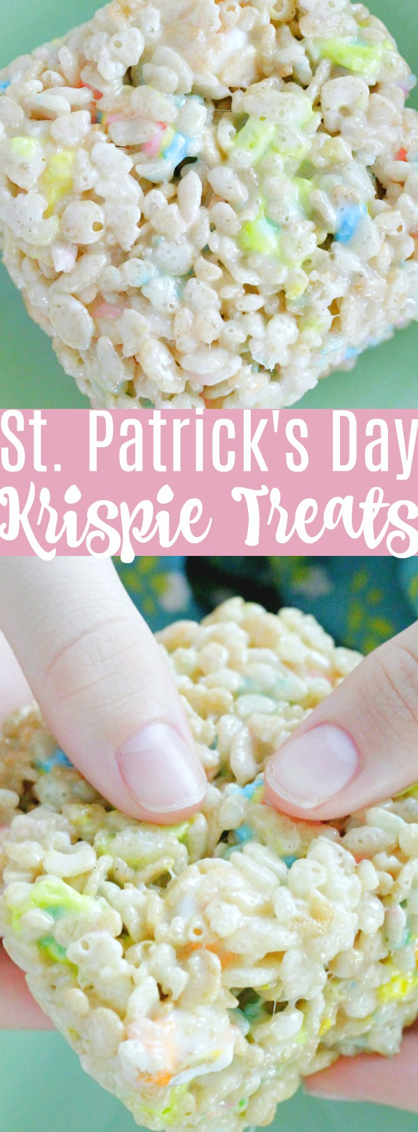 St. Patrick's Day Krispie Treats | Foodtastic Mom