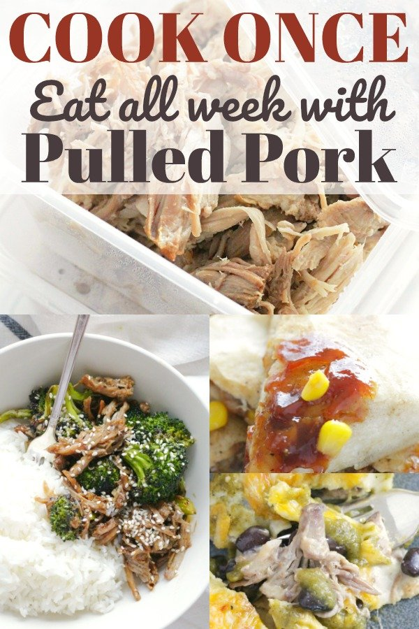 Cook Once Eat All Week with Pulled Pork | Foodtastic Mom #ad #ohpork #pork #mealprep #mealplanning #cookonceeatallweek #dinner #porkrecipes #easydinners