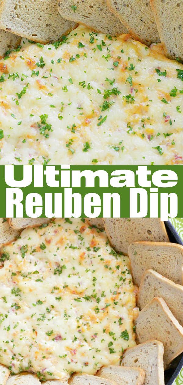 The Ultimate Reuben Dip with Deli Corned Beef | Foodtastic Mom #stpatricksday #reuben #cornedbeef #appetizer #reubendip via @foodtasticmom