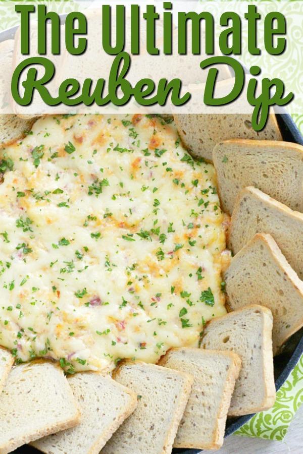 The Ultimate Reuben Dip with Deli Corned Beef | Foodtastic Mom #stpatricksday #reuben #cornedbeef #appetizer #reubendip