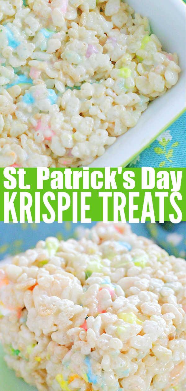 St. Patrick's Day Krispie Treats   Foodtastic Mom #krispietreats #krispietreatsrecipe #stpatricksday via @foodtasticmom