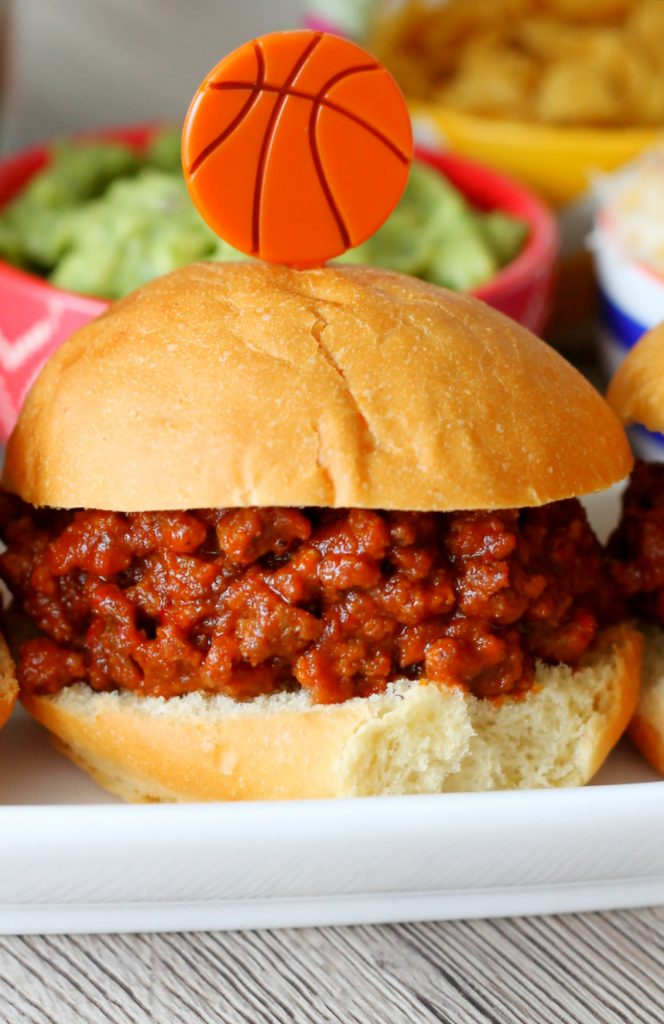 march madness party recipes sweet and spicy sloppy joes