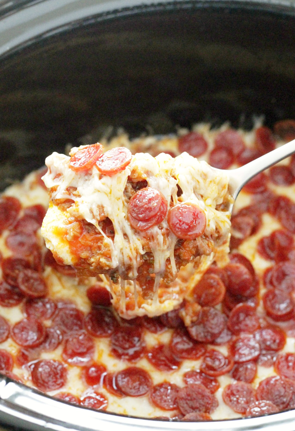 march madness party recipes ultimate pizza dip for the slow cooker