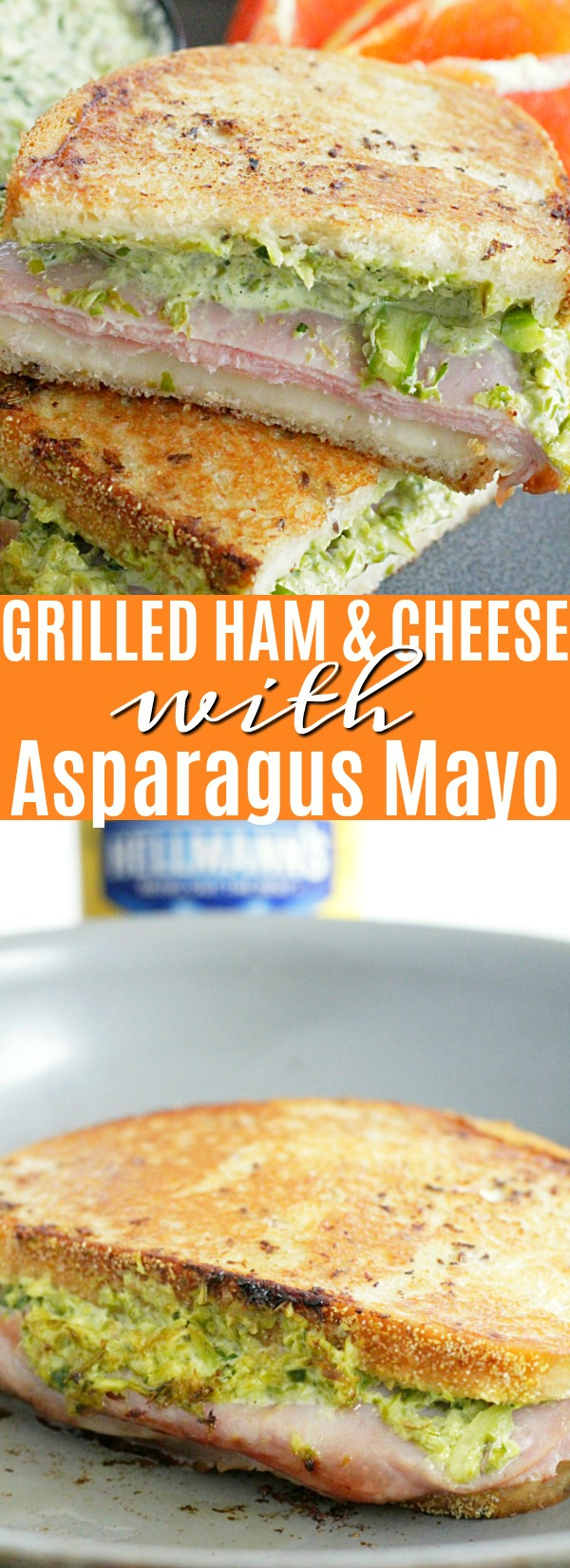 Grilled Ham and Cheese Sandwich with Asparagus Mayonnaise | Foodtastic Mom