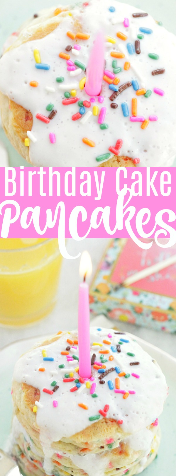 Birthday Cake Pancakes | Foodtastic Mom