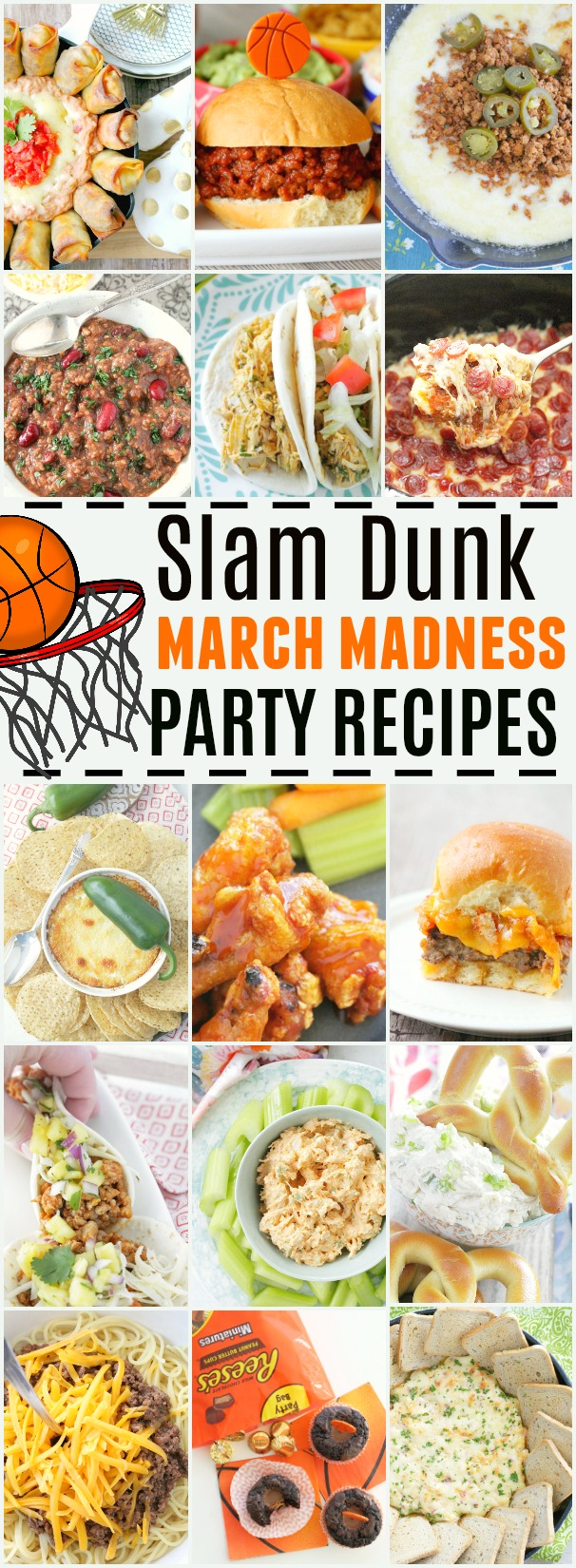 Slam Dunk March Madness Party Recipes