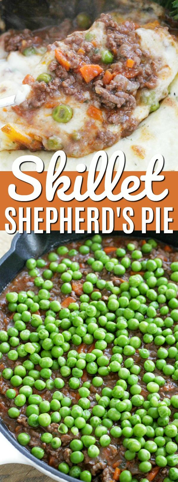 Skillet Shepherd's Pie | Foodtastic Mom