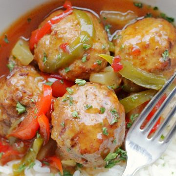 Slow Cooker Sweet and Sour Meatballs | Foodtastic Mom